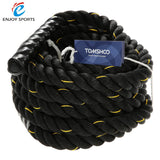 "Black 1.5"" Home Gym Battle Rope, 40 Feet. Great for Strength and Conditioning"