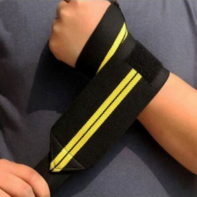 Adjustable Velcro Weightlifting Wrist Wraps / Supports - Set of 2