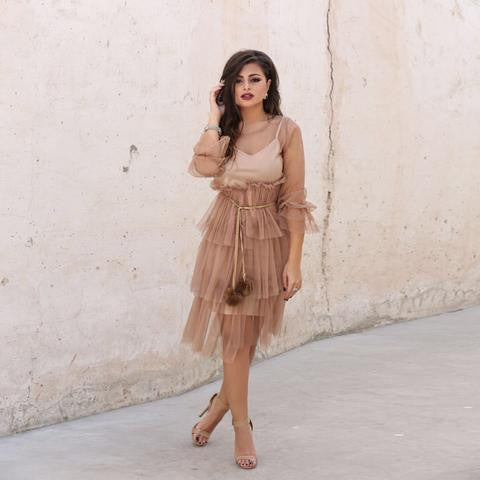 nude-fluff-layered-dress
