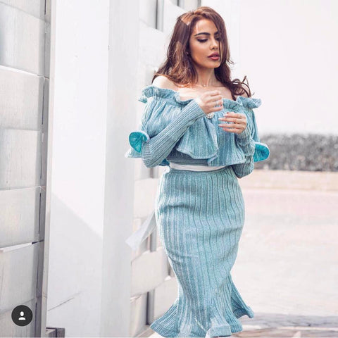 fatima-almomen-blue-frost-pleated-off-the-shoulder-midi-dress