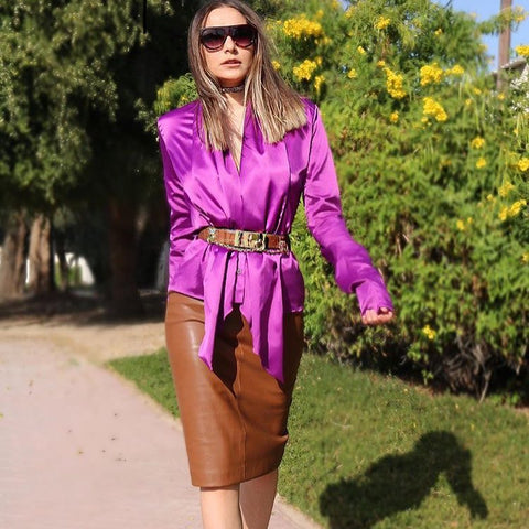 purple-sleeved-satin-front-drape-top