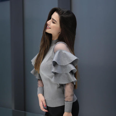 ruffle-sleeve-cold-grey-top