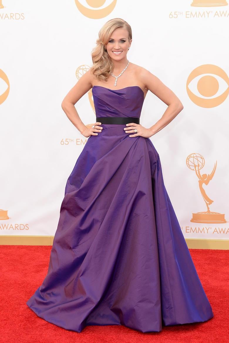 Carrie Underwood stuns in a plum ball gown