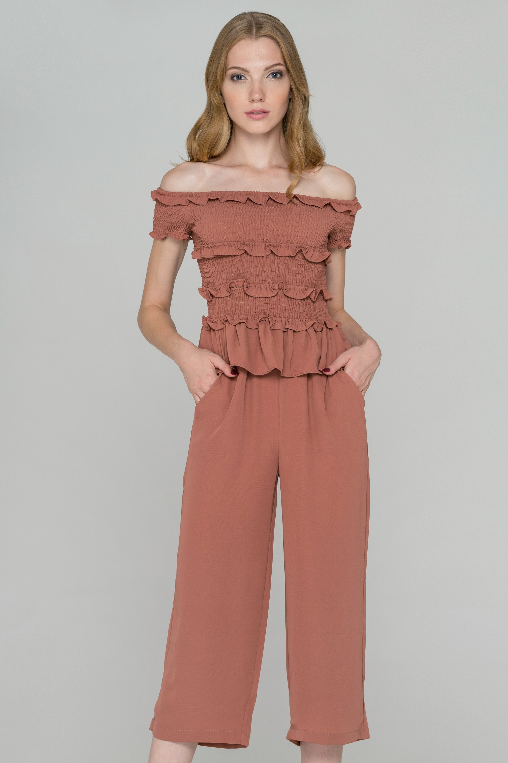 Penny Smocked Ruffle Top Co-ord Set