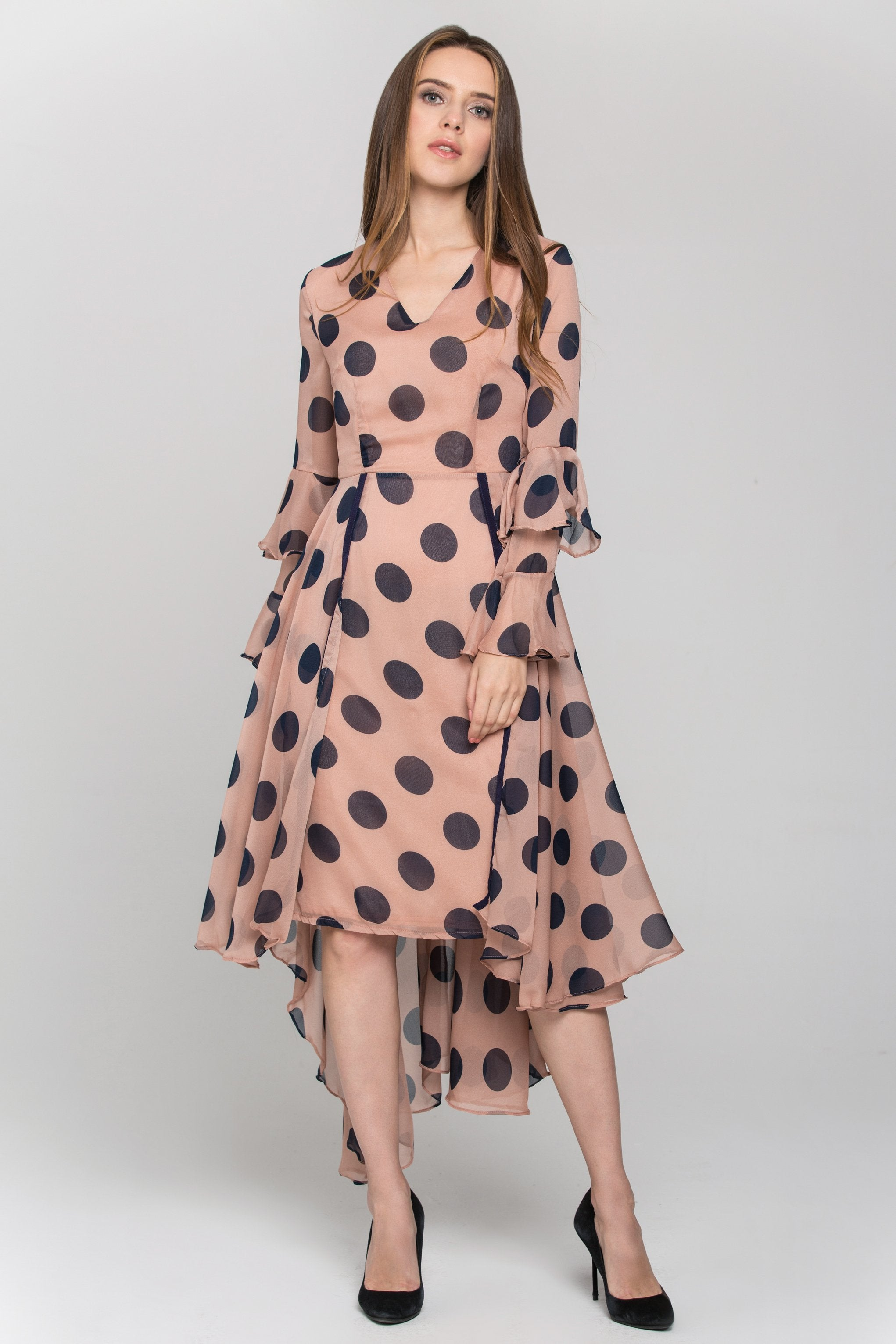 polka dotted dress