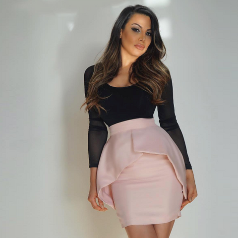 Peplum The Label Skirt