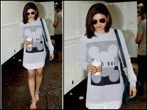 Prachi Desai wearing a printed T shirt dress -own the look