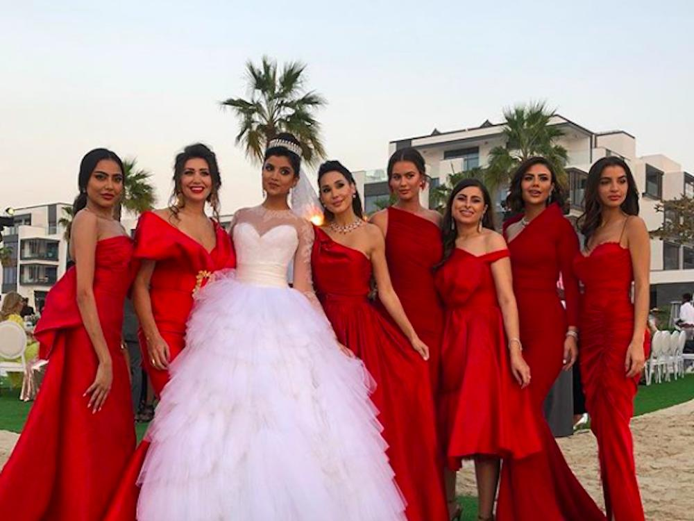 ola farahat and bridesmaids