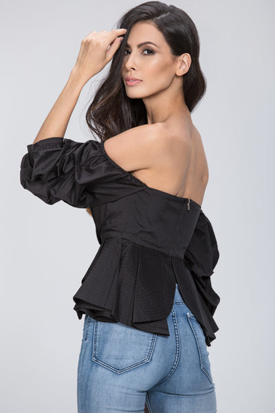 1e6cd57b552 Black Off The Shoulder Love Me Too Top – OwnTheLooks