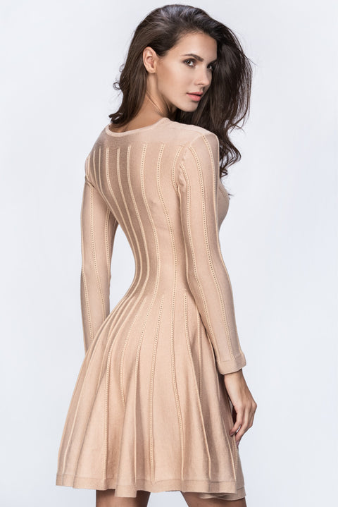 Nude Princess Cut Midi Dress 127