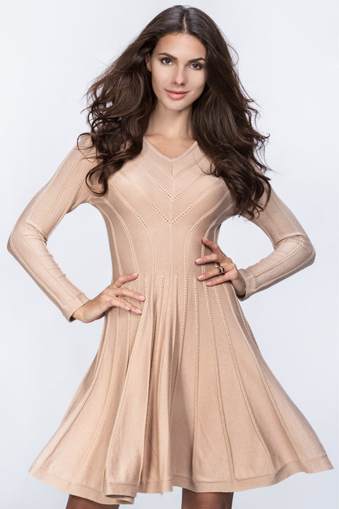 Nude Princess Cut Midi Dress 126
