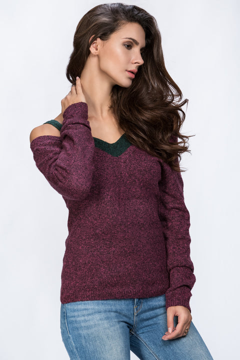 Off The Shoulder Strap Detail Woolly Top 200
