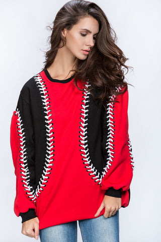 Dana AlTuwairsh - Red & Black Lace Sweater 71