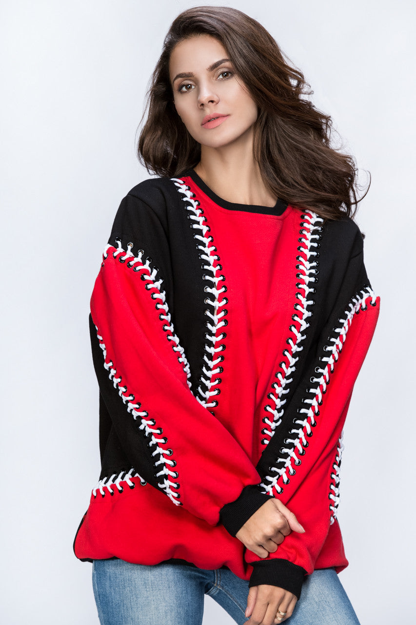 Dana AlTuwairsh - Red & Black Lace Sweater