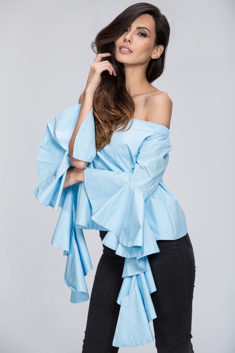 Off the Shoulder Puff Sleeve Top 105