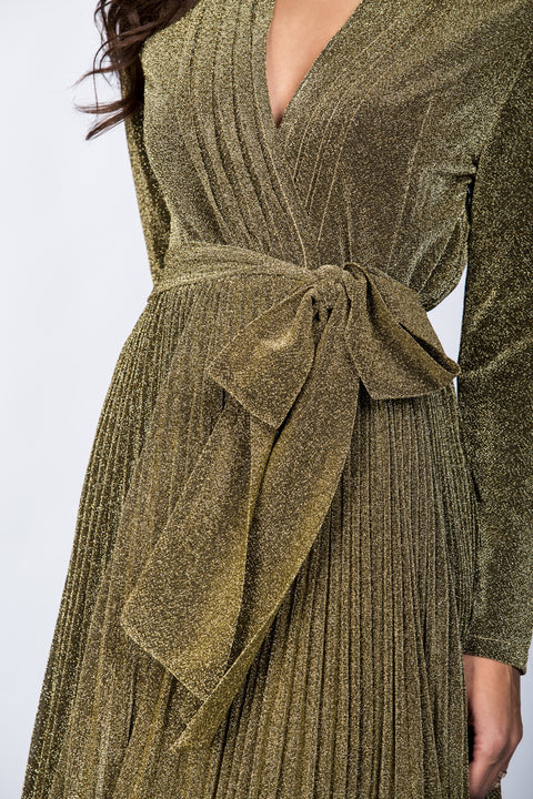 Dana AlTuwairsh - Gold Maxi Belt Detail Dress 1