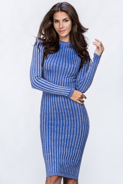 Let's celebrate Blue Body Con Evening Dress