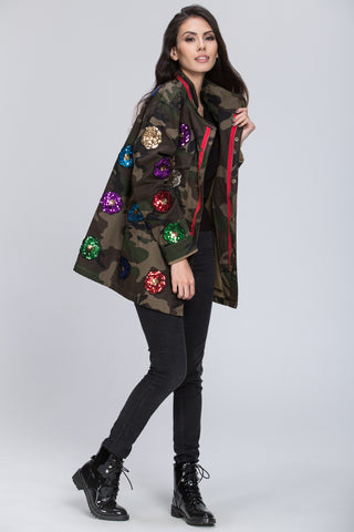 Deema Al Asadi - Sequined Detail Army Jacket 11