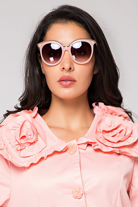 Pink Wired Sunglasses