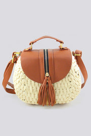 Hobo Basket Tassel Flap Handbag