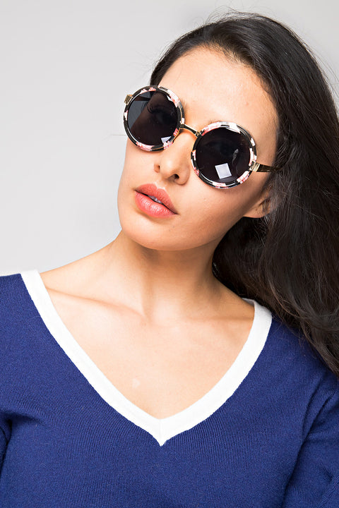 Flower Rim Sunglasses 58