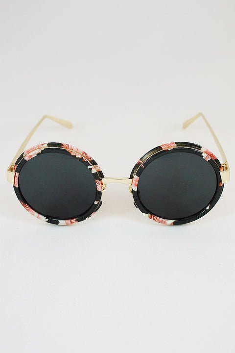 Flower Rim Sunglasses 59