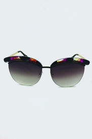 Black and Purple Top Rim Sunglasses