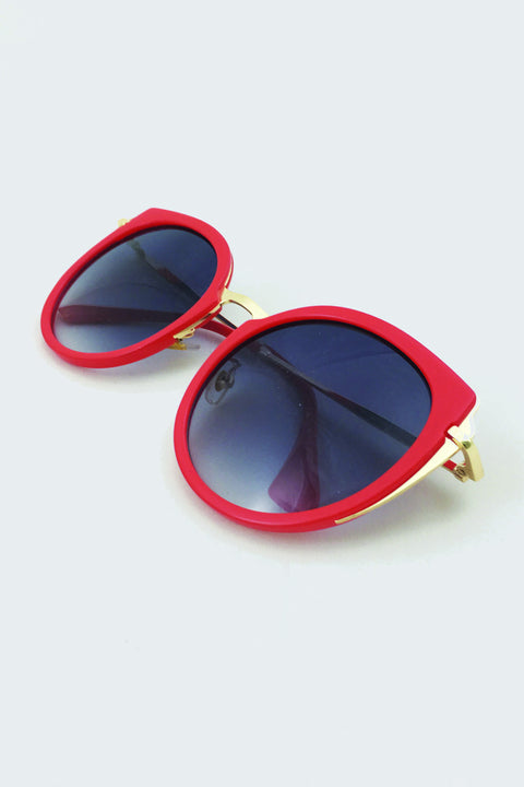 Red and Gold Cateye Sunglasses 74