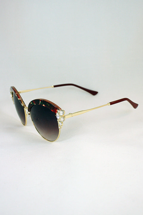 Embellished Vintage Sunglasses 65