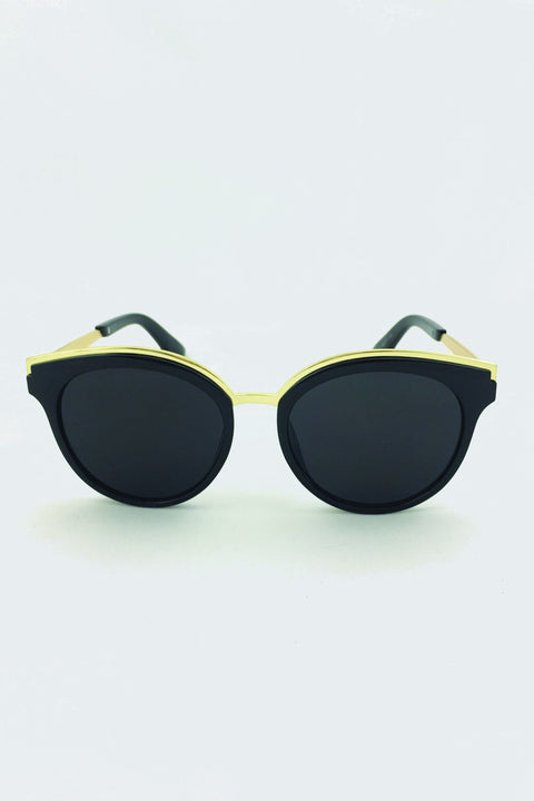 The Real Fouz - Black and Gold Cat Eye Sunglasses 72