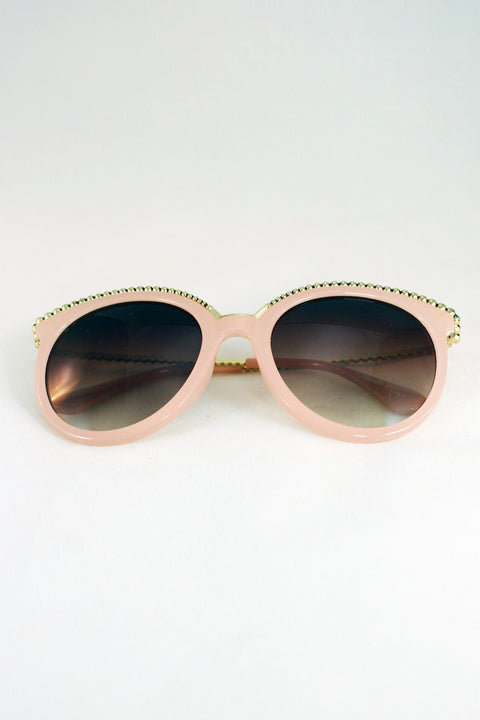 Pink Wired Sunglasses 57