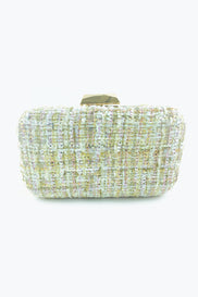 Spring Flowers Tweed Clutch
