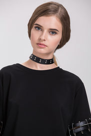 Double Studded Choker Necklace