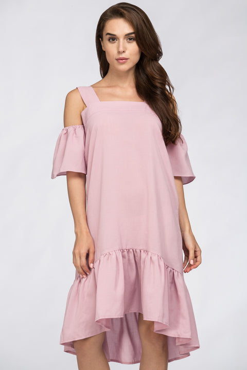 Famous Off The Shoulder Dress Pink