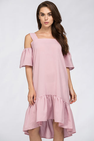 Famous Off The Shoulder Dress Pink 17