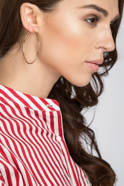 Gold Hoop Earrings 22
