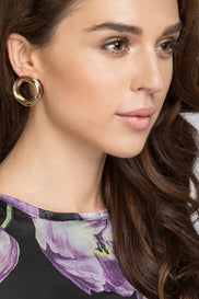 Rawan Bin Hussain - Three Loop Plated Earrings