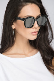 Dana AlTuwairsh - Black Studded Wayfarer