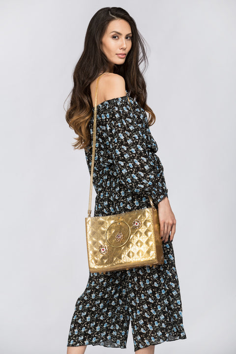 Gold Blush Quilted Jelly Bag 141