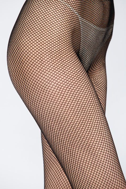 Black Fish Net Pantyhose 135