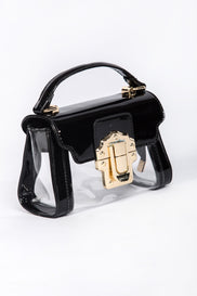 Black Transparent Mini Pochette