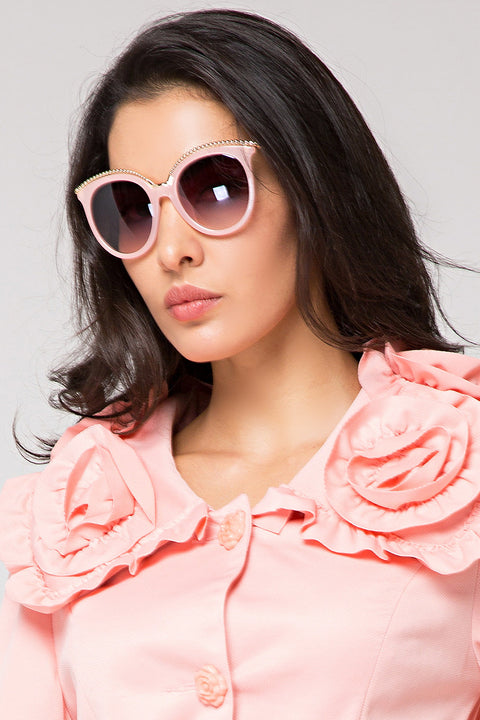 Pink Wired Sunglasses 56