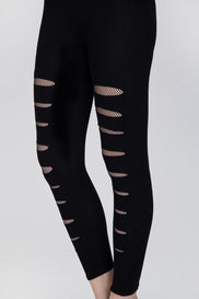 Black Fishnet Cut out Tights