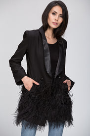 The Real Fouz - Feather Detail Fitted Blazer