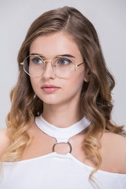 Gold Octagon Eyeglasses