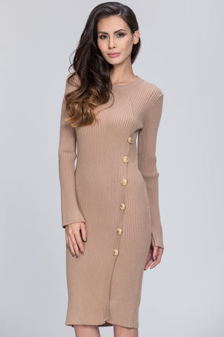 The Real Fouz - Knit Fitted Button Detail Dress 44