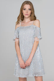 Strobe Sequined Mini Dress