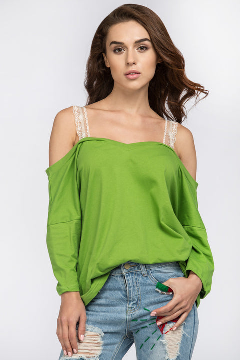 Apple Green Off the Shoulder Top 50