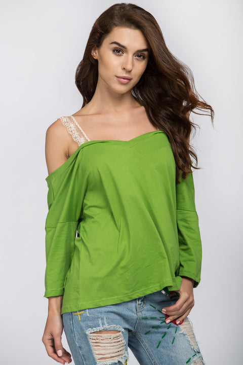 Apple Green Off the Shoulder Top 51