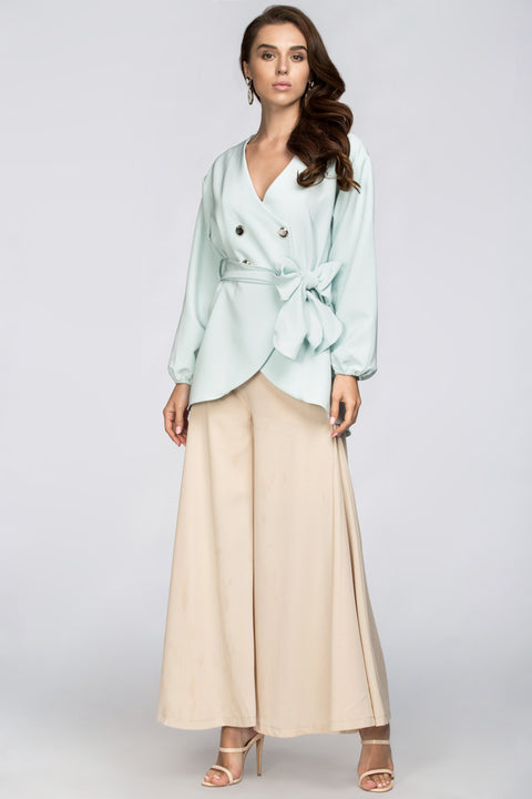 Nude Palazzo Trousers 208